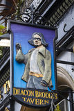 Diakon Brodies-Taverne in Edinburgh lizenzfreie stockbilder