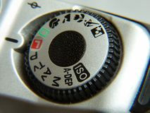 Dial. Menu on a camera Stock Photography