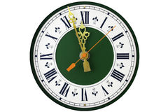 Dial of analog clock. With the Roman numerals stock photos