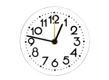 Dial of analog hours Royalty Free Stock Image