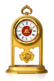 Dial of analog watch gold ornament Royalty Free Stock Images