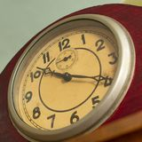 Dial with arrows of old mechanical clock, royalty free stock photography