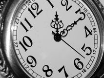 The dial on a black and white background Stock Images