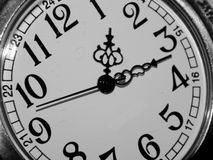 The dial on a black and white background Stock Photos
