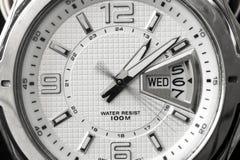Dial blanco del reloj Fotos de archivo