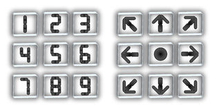 Dial buttons and arrows Royalty Free Stock Photo