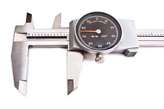 Dial Caliper. Isolated dial caliper with a black face Stock Photography