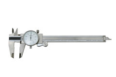Dial Caliper. Measuring device isolated against a white background with clipping path Royalty Free Stock Images