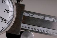 Dial Caliper micrometer. Close up of dial caliper micrometer Royalty Free Stock Image