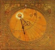 Dial clásico del sol en Varsovia Imágenes de archivo libres de regalías