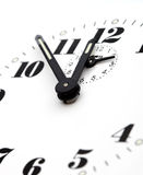 Dial clock. Detail of white dial clock Stock Images