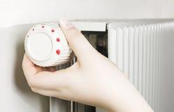 Dial con los corazones en el radiador Imagenes de archivo