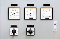 Dial control. The production of electricity stock photo
