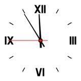 Dial de horas Imágenes de archivo libres de regalías