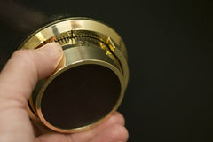 Dial de la combinación de la cámara acorazada del oro Imágenes de archivo libres de regalías