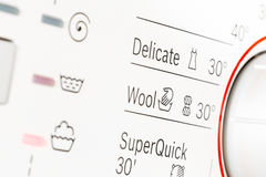 Dial de la lavadora Imagen de archivo libre de regalías