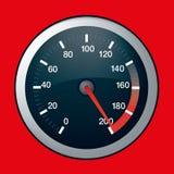 Dial de la velocidad del coche en máximo Foto de archivo libre de regalías