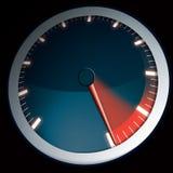 Dial de la velocidad para una potencia del máximo del coche Imágenes de archivo libres de regalías
