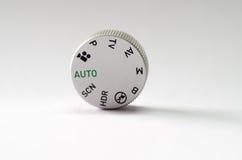 Dial de plata del modo de DSLR Imagen de archivo libre de regalías