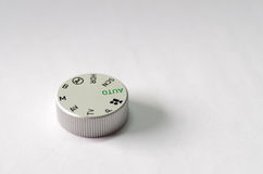 Dial de plata del modo de DSLR Fotos de archivo