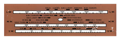 Dial de radio del vintage Foto de archivo libre de regalías
