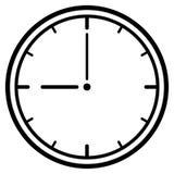 Dial de reloj. Ilustración del vector Imagenes de archivo