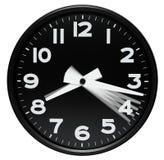 Dial de reloj que muestra pasando minutos Imagen de archivo