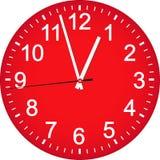 Dial de reloj rojo Fotos de archivo libres de regalías
