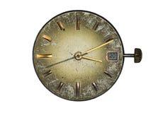 Dial de reloj viejo Foto de archivo libre de regalías