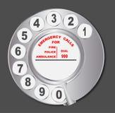 Dial de teléfono del viejo estilo Imágenes de archivo libres de regalías