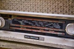 Dial de un receptor de radio viejo Imagen de archivo