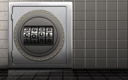 dial del código del dial del código 3d Fotografía de archivo libre de regalías