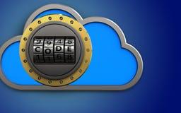 dial del código de la nube 3d Imagen de archivo