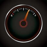 Dial del combustible stock de ilustración