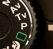 Dial del modo de la cámara Fotos de archivo