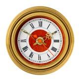 Dial del ornamento del oro del reloj analogico Foto de archivo libre de regalías