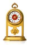 Dial del ornamento del oro del reloj analogico Imágenes de archivo libres de regalías