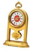 Dial del ornamento del oro del reloj analogico Fotos de archivo libres de regalías