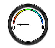 Dial on empty. Pretty round dial showing empty. Generic design for real or metaphorical use Stock Photos