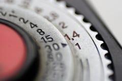 Dial en el fotómetro Imagen de archivo