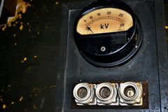 Dial gauge high voltage Royalty Free Stock Photos