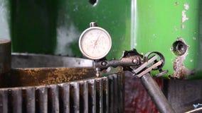 Dial gauge instrument measurement stock video footage