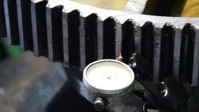 Dial gauge instrument stock video footage