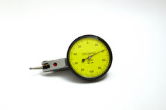 Dial gauge. New dial gauge for check dimension in the box package in isolate background royalty free stock photography