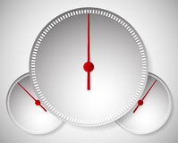 Dial, Generic Meters, Gauge Templates. Stock Image