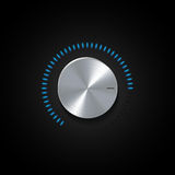 Dial and glowing blue indicator light Royalty Free Stock Images