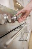 dial hand kitchen stove Στοκ Εικόνες