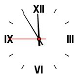 Dial of hours. Royalty Free Stock Images