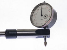 Dial indicator. Digital indicator on the stand for the accurate measurement readings royalty free stock photography