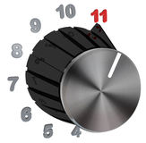 Dial Knob Turned to Max - Number Level 11 Royalty Free Stock Photos